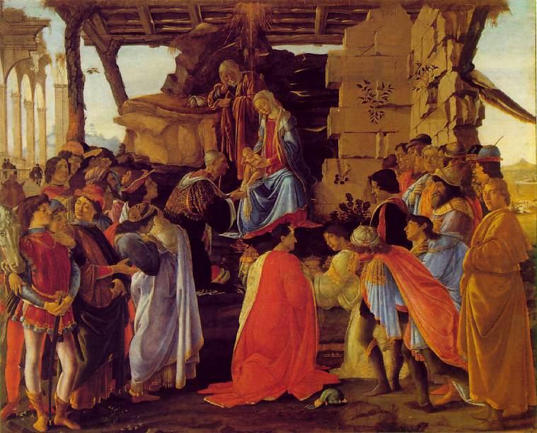 La adoración de los magos. Boticelli 1475