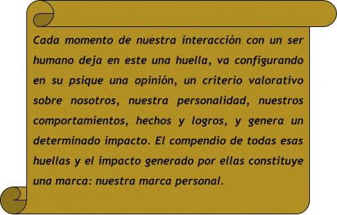 Cita sobre marca personal / Blog Soymimarca / Profesor Vladimir Estrada