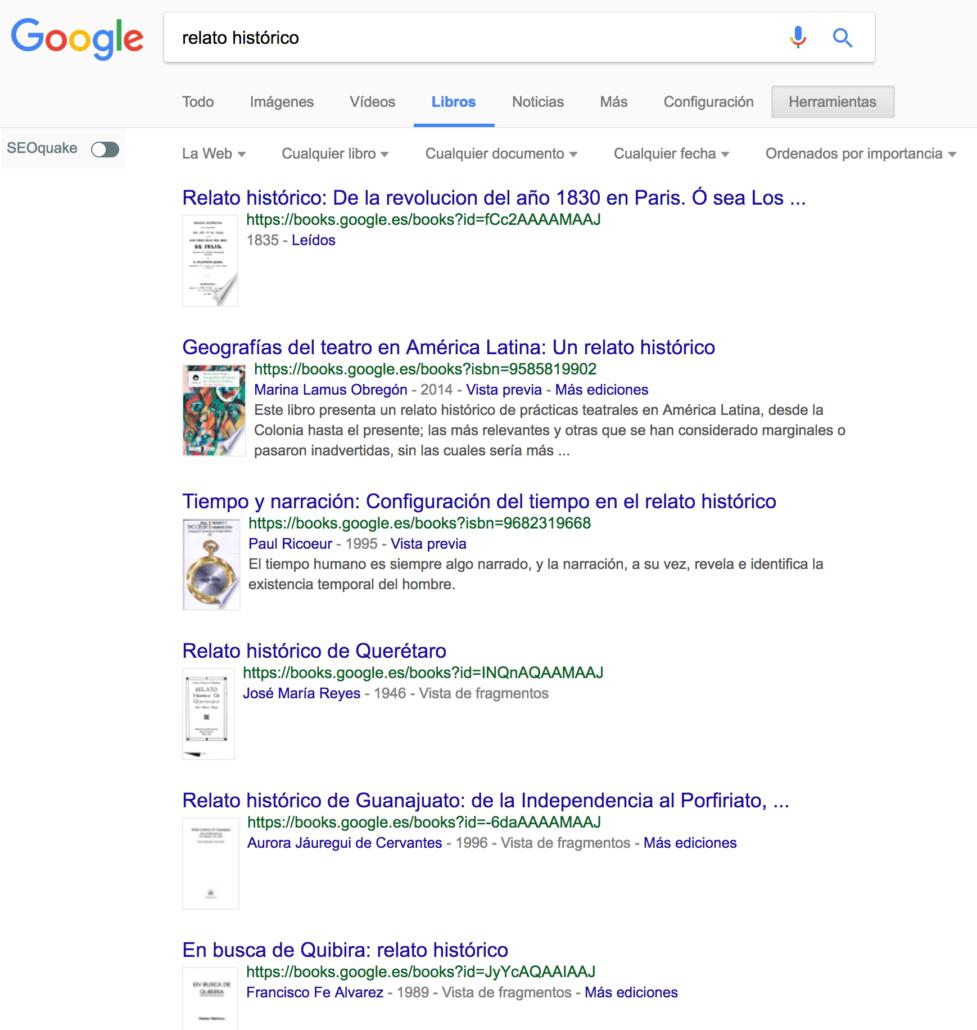 búsqueda libros Google