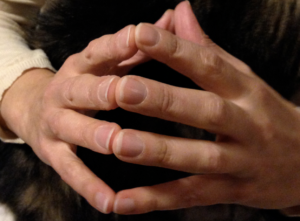 Tocarse puntas dedos / marca personal