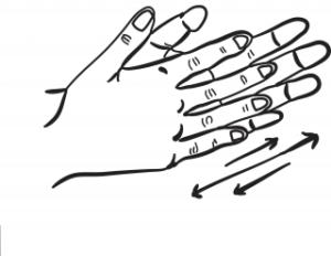 frotarse las manos _ marca personal
