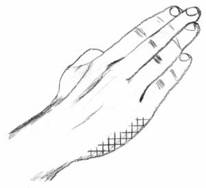 palmas manos hacia abajo, marca personal